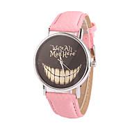 abordables Relojes de Moda-Mujer Reloj de Moda Reloj de Vestir Cuarzo PU Banda Negro Blanco Azul Rojo Marrón Rosa Morado Rose