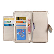 Для Кейс для Huawei P8 P8 Lite Чехлы панели Кошелек Бумажник для карт Чехол Кейс для Один цвет Твердый Искусственная кожа для Huawei