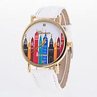 Недорогие Женские часы-Жен. Модные часы Повседневные часы Кварцевый Повседневные часы PU Группа Elegant Черный Белый Синий Красный Оранжевый Коричневый Зеленый
