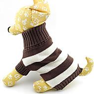 저렴한 -고양이 강아지 스웨터 강아지 의류 스트라이프 면 코스츔 제품 겨울 남성용 여성용 따뜻함 유지 패션