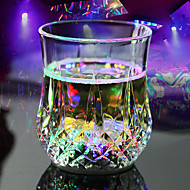 halpa LED-yövalot-0.5 W Multicolor paristo Anturi LED-juomavarusteet DC 12 V Muovi