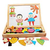 お買い得  -磁石玩具 お絵描きおもちゃ お絵描きタブレット 磁石玩具 ウッド クラシック 磁石バックル 楽しい 子供用 男の子 女の子 おもちゃ ギフト