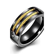 preiswerte -Herrn Niedlich / bezaubernd versilbert Ring / Statement-Ring / Bandring - Personalisiert / Quaste / Party Schwarz Ring Für Hochzeit /