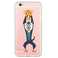 Kılıf Na iPhone 7 / iPhone 7 Plus / iPhone SE / 5s / 5 iPhone X / iPhone 8 / Etui iPhone 5 Ultra cienkie / Transparentny / Wzór Osłona tylna Kreskówki Miękka TPU na iPhone X / iPhone 8 Plus / iPhone 8