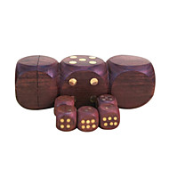 cheap Toys & Hobbies-Royal St Selling Hua Limu Dice Points Completely Wood Material Inlaid Copper Nail Atmosphere 1 Set Of Dice 1.7 Cm