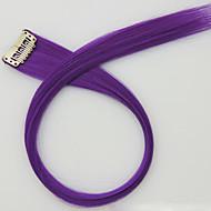 저렴한 -보라색 길이 60cm 합성 가발 긴 직선 머리 색깔 (컬러 2411)