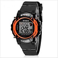 Недорогие Фирменные часы-SYNOKE Цифровой Наручные часы Спортивные часы Будильник Календарь Секундомер Защита от влаги ЖК экран Светящийся Pезина Группа Cool Черный