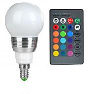 お買い得  LED ボール型電球-100-200 lm E14 LEDボール型電球 A50 1 LEDビーズ ハイパワーLED リモコン操作 RGB 85-265 V / 1個
