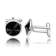 abordables Gemelos-Negro Gemelos Cristal Hombre Joyería de disfraz Para
