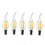 E14 LED-stearinlyspærer CA35 6 COB 600 lm Varm hvid 2700 K Dæmpbar Vekselstrøm 220-240 V