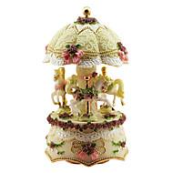 abordables Juguetes Clásicos-cerámica caja de música romántica creativa de color rosa para el regalo