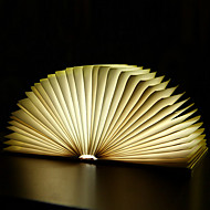 creative flip book page warm wit led nightlight novel folding books usb bedlamp