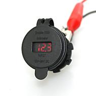 Недорогие Автомобильные зарядные устройства-iztoss 2.1a& 2.1a водонепроницаемый двойной USB зарядное устройство телефона зарядное гнездо питания с вольтметром красным светом