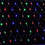 abordables Tiras de Luces LED-3mx2m 200led hogar al aire libre de vacaciones de navidad de navidad red de la boda de malla de malla de hadas cortina guirnaldas luz del partido