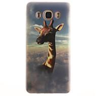 Для Кейс для  Samsung Galaxy IMD Кейс для Задняя крышка Кейс для Животный принт Мягкий TPUTrend 3 / J7 (2016) / J5 (2016) / J5 / J1