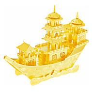 voordelige Speelgoed & Hobby's-3D-puzzels Legpuzzel Metalen puzzels Modelbouwsets Schip 3D Chinees Oud Schip DHZ Roestvast staal Metaallegering Metaal Kerstmis Chinese