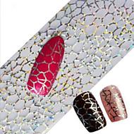 1db 100cmx4cm csillogó köröm fólia matrica gyönyörű csipke virág levél toll kép köröm díszítés diy szépség stzxk16-20