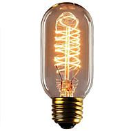 お買い得  -1個 40W E26 / E27 T45 温白色 2300k レトロ風 調光可能 装飾用 白熱ビンテージエジソン電球 220-240V