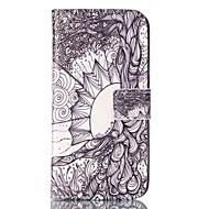 Для Samsung Galaxy S7 Edge Кошелек / Бумажник для карт / со стендом / Флип / С узором Кейс для Чехол Кейс для дерево МягкийИскусственная
