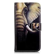 Для Кейс для  Samsung Galaxy Бумажник для карт / Кошелек / со стендом / Флип Кейс для Чехол Кейс для Слон Мягкий Искусственная кожа