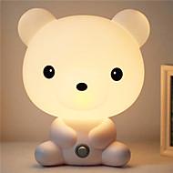 ganske søt Bruin tegneserie dyr nattlys baby rom sover lett soverom skrivebordslampe nattlampe best for gaver