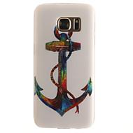 billige Galaxy S5 Mini Etuier-Etui Til Samsung Galaxy Samsung Galaxy S7 Edge Mønster Bagcover Anker Blødt TPU for S7 edge S7 S6 edge S6 S5 Mini S5 S4 Mini S4 S3 Mini S3