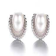 Damskie Kolczyki na sztyft Modny Perłowy Stop Circle Shape Biżuteria Na Impreza Codzienny