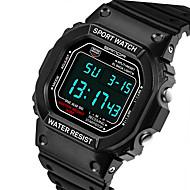 SANDA Muškarci Sportski sat digitalni sat Kvarc Šiljci za meso Japanski kvarc LCD Kalendar Vodootpornost alarm Svjetleći Štoperica Guma