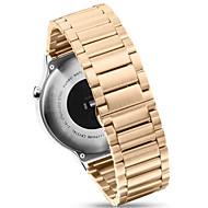 Zwart / roze / Goud / Zilver Roestvast staal / Metaal Moderne gesp / Schakelarmband Voor Huawei Horloge 18mm