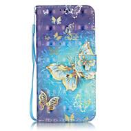 Для Samsung Galaxy S7 Edge Бумажник для карт / Кошелек / со стендом / Флип / С узором Кейс для Чехол Кейс для Бабочка МягкийИскусственная