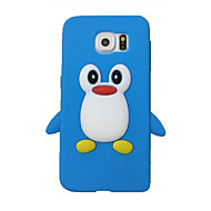 cheap Cell Phone Cases-Case For Samsung Galaxy Samsung Galaxy Case Shockproof Back Cover 3D Cartoon Silicone for S7 edge / S7 / S6