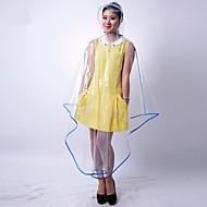 Fehér Zöld Kék Pink Sárga Bíbor Esőkabát Esős Plastic Nő Férfi