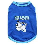 お買い得  -ネコ 犬 Tシャツ 犬用ウェア 動物 ブルー コットン コスチューム ペット用 男性用 女性用 ファッション