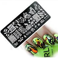abordables Estampados de Uñas-1 Plantilla de estampado de uñas Diario Moda Alta calidad