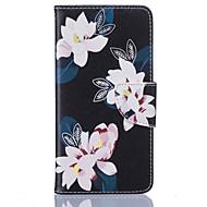 Для Кейс для  Samsung Galaxy Бумажник для карт / Кошелек / со стендом / Флип Кейс для Чехол Кейс для Цветы Мягкий Искусственная кожа