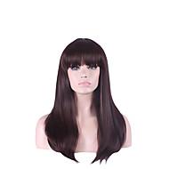 Недорогие Парики-Искусственные волосы парики Прямой Естественные прямые С чёлкой Без шапочки-основы Карнавальный парик Парик для Хэллоуина