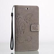 Для Кейс для Huawei Бумажник для карт / Кошелек / со стендом / Флип / Рельефный Кейс для Чехол Кейс для Бабочка Твердый Искусственная кожа
