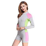 abordables Deportes Acuáticos-Mujer 2mm Traje de neopreno corto Compresión Táctel Traje de buceo Manga Larga Trajes de buceo - Buceo Surfing