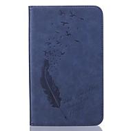 halpa Samsung Tab -sarjan kotelot / kuoret-PU nahka sulka muottilautaan kohokuvioimalla suojakotelo forsamsung Galaxy Tab T280 / T350 / t377 / T715