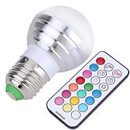 E26/E27 LED-globepærer A50 4 SMD 300-450 lm Kold hvid RGB Dæmpbar Fjernstyret Dekorativ Vekselstrøm 85-265 Vekselstrøm 220-240