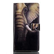 Для Кейс для Huawei / P9 / P9 Lite Кошелек / Бумажник для карт / со стендом / Флип Кейс для Чехол Кейс для Слон Твердый Искусственная кожа
