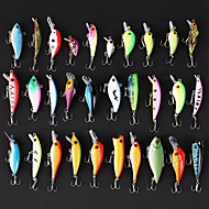 cheap Fishing Accessories-30 pcs Hard Bait / Swimbaits / Minnow Hard Bait / Jerkbaits / Minnow Hard Plastic Sea Fishing / Bait Casting / Spinning / Pencil / Freshwater Fishing / Bass Fishing / Lure Fishing