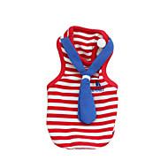 חתול כלב טי שירט בגדים לכלבים בריטי אדום כחול כותנה תחפושות עבור קיץ & אביב קיץ בגדי ריקוד גברים בגדי ריקוד נשים אופנתי