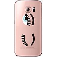 Недорогие Чехлы и кейсы для Galaxy S6 Edge Plus-Кейс для Назначение SSamsung Galaxy Samsung Galaxy S7 Edge Прозрачный С узором Кейс на заднюю панель Соблазнительная девушка Мягкий ТПУ