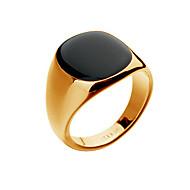 tanie 30% TANIEJ i więcej-Męskie Chrysoberyl kocie oko Pierścień Sygnet Ring Powlekany złotem 18K List Moda Hip-Hop Moda miejska Modne pierścionki Biżuteria Srebrny / Złota Na Prezenty bożonarodzeniowe Impreza Codzienny Casual