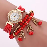Damskie Modny Zegarek na nadgarstek Zegarek na bransoletce Kwarcowy / Skóra Pasmo Kwiat Artystyczny Czarny Biały Niebieski Czerwony