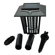 billiga Lampposter-LED-strålkastare Enkel att installera Vattentät Kallvit Lila Batteri