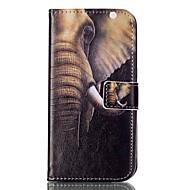 Varten Samsung Galaxy S7 Edge Korttikotelo / Lomapkko / Tuella / Flip / Kuvio Etui Kokonaan peittävä Etui Elefantti Pehmeä Tekonahka