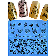 1pcs New Nail Art Lace Sticker Flower Butterfly Cartoon Heart Design Nail Beauty STZ-V036-040
