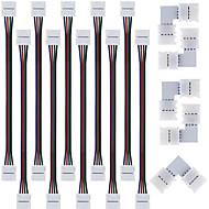 baratos -5pcs conector divisor rápida, 10 milímetros em forma de L 4 condutores para 5050 rgb com 10pcs 5050 conector luz tira rgb